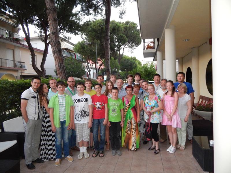 Участники этапа кубка мира по шашкам Римини-2014